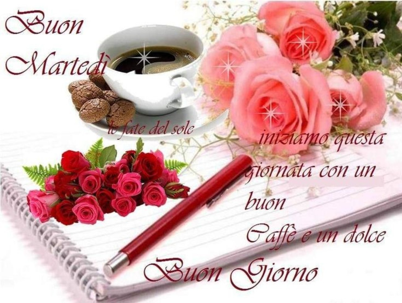 belle immagini buon martedi amore con rose (8)
