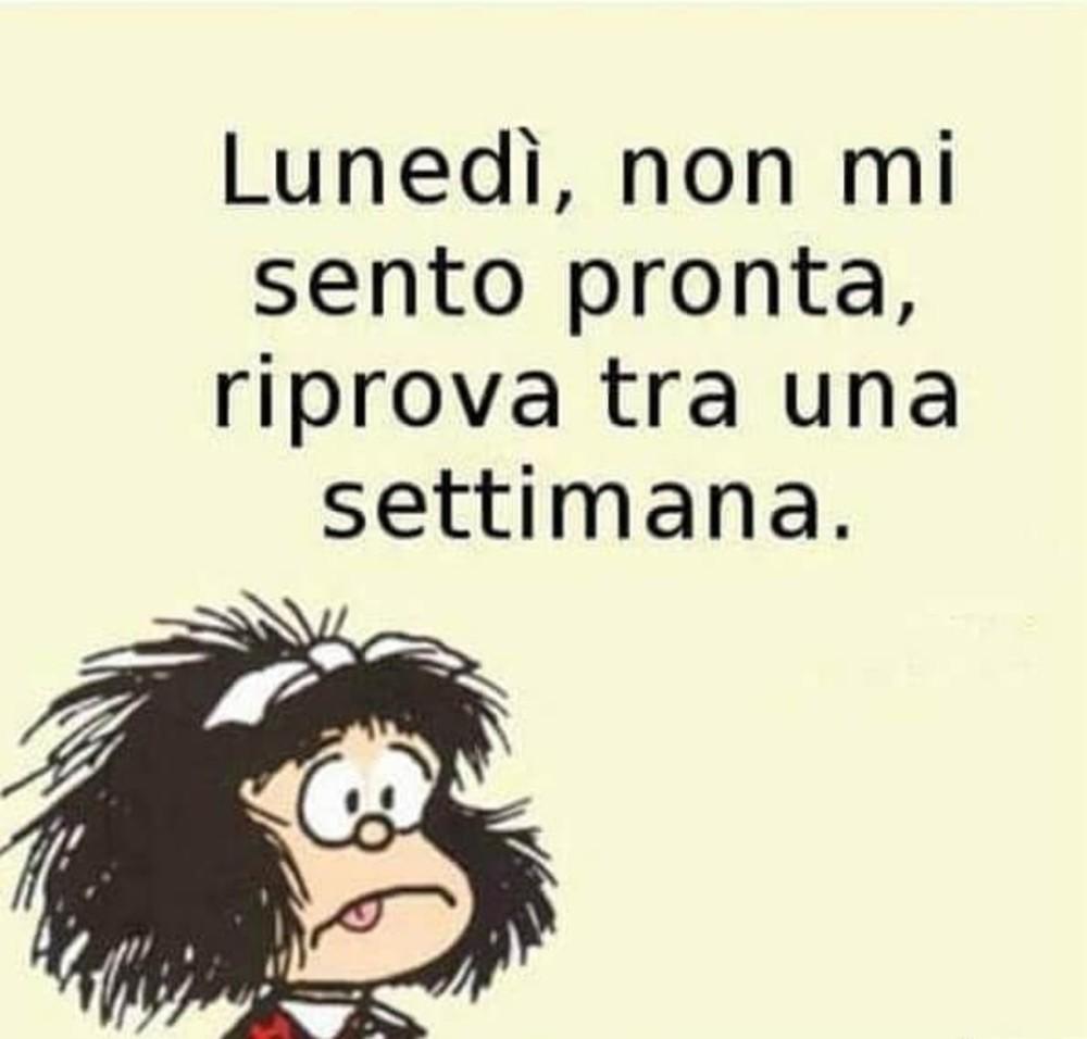 Immagini Buon Lunedi Divertenti Mafalda Fotowhatsapp It